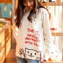 【 今だけ 送料無料 】 【 ポイント10倍 〜4/16 2時マデ 】 猫 ねこ ロンT Griper ( ナチュラル ) | ネコ 猫柄 猫雑貨 | メンズ レディース 長袖 Tシャツ トップス | かわいい おしゃれ 大人 親子 ペアルック お揃い プレゼント | 大きいサイズ | SCOPY / スコーピー
