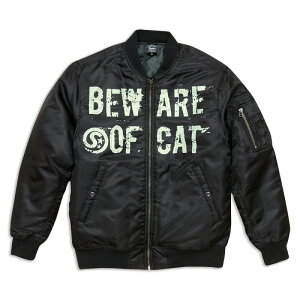 ネコ好き のための 猫柄 ジャケット 【限定】 BEWARE OF CAT ( ブラック ) | ねこ 猫 猫雑貨 ( MA-1 ジャケット ) | メンズ レディース | SCOPY / スコーピー 10P07Feb16