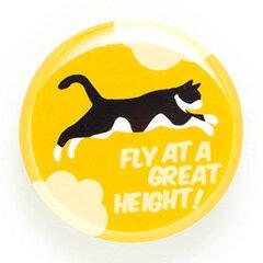 猫 ねこ 缶バッチ FLY!(ゆうひ) | ネコ 猫柄 猫雑貨 猫グッズ | かわいい おしゃれ | SCOPY / スコーピー