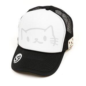 ネコ好き のための 猫柄 メッシュキャップ のぞきねこ ブラック | ねこ 猫 …