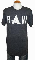 ジースターロウG-STARRAW半袖Tシャツアフロジャックコラボレーションモデルグレーメンズ夏物ロング丈Afrojack