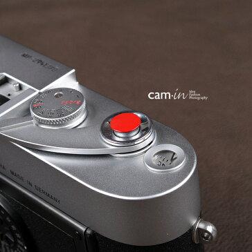 cam-in ソフトシャッターボタン | レリーズボタン 超薄型 凸面 - レッド CAM9004