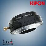 KIPON(キポン)ニコンFマウントレンズ-マイクロフォーサーズマウントアダプターアオリ(ティルト)機構搭載