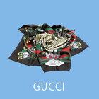 品良く魅せるグッチのシルクスカーフ♪グッチGUCCIイタリア製スカーフシルク100%絹277132