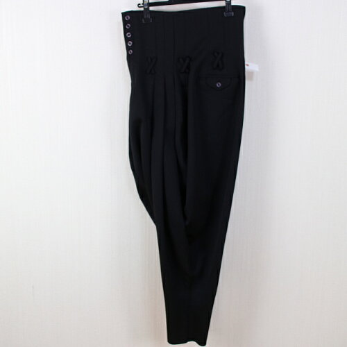AP752ランクA- ボンタンワタリ75-裾18 黒スリータック変形男子学生服変形ズボン学生ズボ...