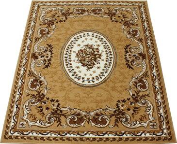 激安 じゅうたん カーペット マット ラグマット 6畳 六畳 6帖 六帖 ラグ オールシーズン 安い ベルギー製 輸入ラグ カーペット 約 240×330cm シラーズ 1123 (Y) ベージュ (ライトブラウン) 絨毯 ジュータン 茶色beige brown rug carpet mat made in belgium