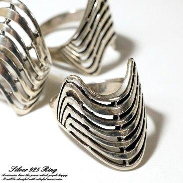 シルバー925 メンズ レディース リング 鎧 甲冑 重厚感漂うデザイン指輪【シルバー925 silver925 シルバーアクセサリー 指輪】 【楽ギフ_包装選択】
