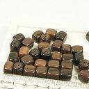 フィリピン製 ウッド 天然素材 丸角 長方形 約38個入り ブラウン ...