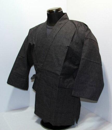 紬織り 作務衣日本製
