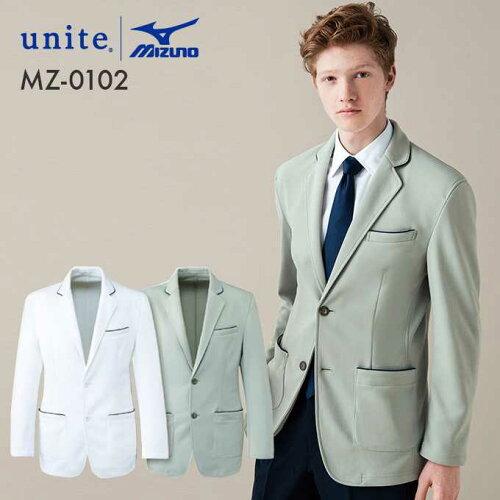 unite ミズノ MIZUNO パイピング 2つボタン ニットジャケット(男性用) MZ-0102 医療白衣【ドクタ...