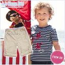 英国発*JoJo Maman Bebe(ジョジョママンベベ)キッズウェア航空ショーTシャツ(ボーダー)とパンツのセットサイズ:6-12ヶ月