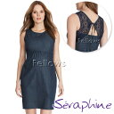 Seraphine セラフィン Suzette クロシェバックデニムマタニティワンピース サイズ:8(日本サイズ7〜9号)