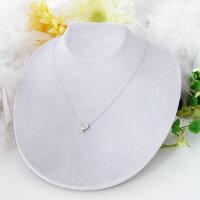 K18WGダイヤモンドハートのネックレス