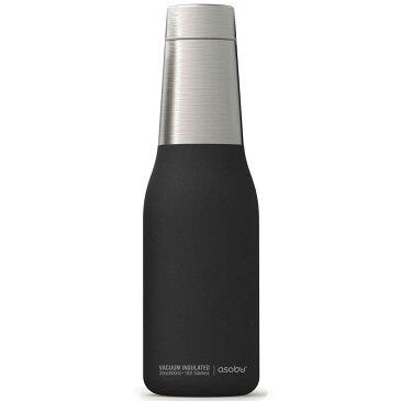 水筒 asobu ファッションボトル OASIS 600ml ステンレスボトル 直飲み 保温保冷 真空断熱 おしゃれ アソブ アソブボトル オアシス ブラック