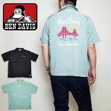 BENDAVISワークシャツシャツ半袖ベンデービスメンズ刺繍