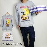 PALM/STRIPESパームストライプススエットアメカジピザサーフメンズレディース