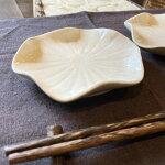 ジェンガラ小皿はすデザイン白貫入正規品