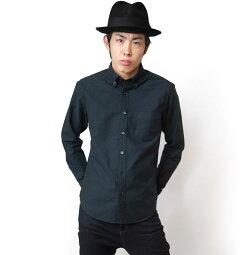 オックスフォードBDシャツ(ブラック)-VINTAGEELヴィンテージイーエル-sh75201s-bk01-G-長袖シャツOXシャツボタンダウンシャツYシャツトップスカジュアルきれいめかっこいい定番コーデメンズファッション黒色【RCP】