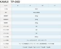 【カスタムドライバー】【KAMUI(カムイ)TP-09Dドライバー】【9°/10°/11°】【三菱レイヨンKUROKAGEXMシリーズ(クロカゲ)シャフト】