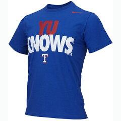 数量限定!数量限定 ナイキ テキサス レンジャース ダルビッシュ選手 Tシャツ YU KNOWS ロイヤル