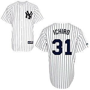 数量限定!数量限定 マジェスティック ニューヨーク ヤンキース イチロー選手 レプリカユニフォ...