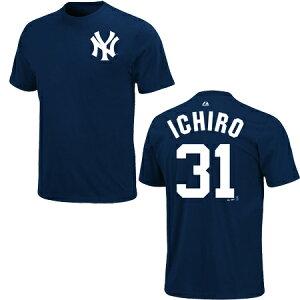 数量限定!数量限定 マジェスティック ニューヨーク ヤンキース イチロー選手 ネーム・ナンバー...