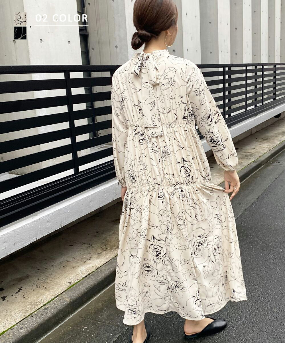 【7/15 NEW】フラワーティアードワンピース