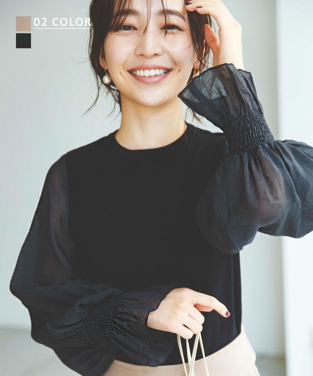 【8/31 NEW】シアースリーブニットトップス