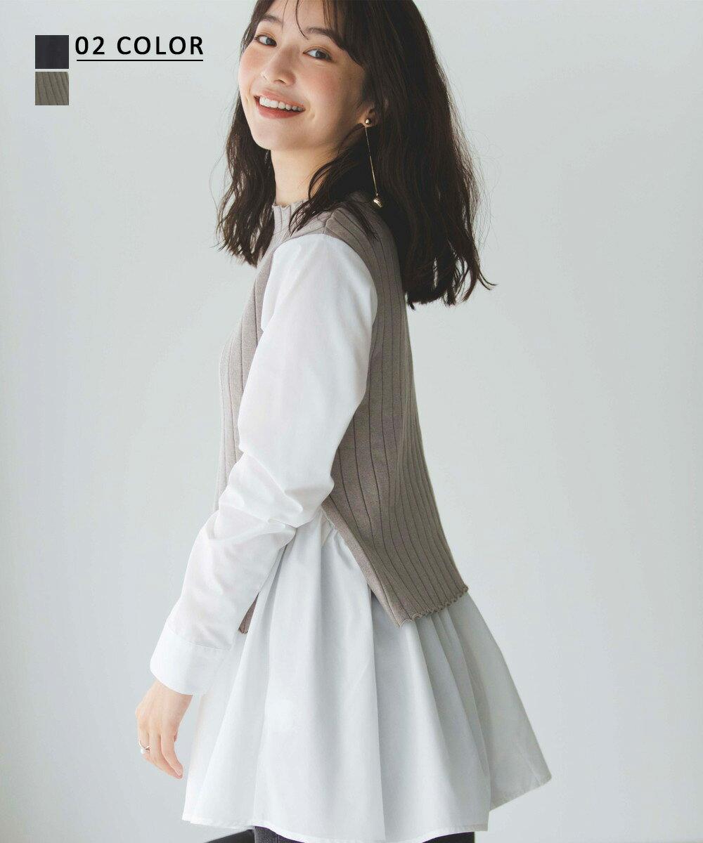 【2/1 NEW】レイヤード風トップス