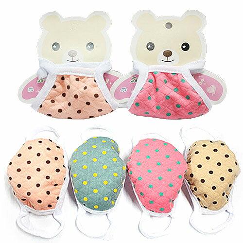 子どもマスク キッズマスク 子どもマスク 子供マスク 綿 洗える 幼児 女の子 ピンクドット ベージュドット