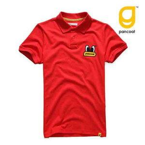 【正規品】PANCOAT パンコート ポロシャツ キャラクター T-シャツ POPEYES BIGLOGO COLLAR T-SHIRTS (TOMATO RED) 半袖 夏 Tシャツ メンズ レディース
