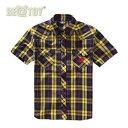 [送料無料][正規品]BE@TOY Plaid Western shirt(yellow)BEAST Plaid western shirt チェックシャツ Yellow 半袖[B2ST ビースト ヒョンスン Hyun-Seung]メンズ