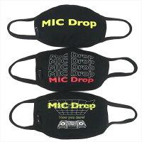 【お買い物マラソン24日1:59まで】BTS 防弾少年団 バンタン 公式グッズ マスク 3枚1セット MIC Drop レディース メンズ 公式ライセンス 韓国 K-POP