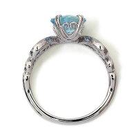 アクアマリン×ローズカットダイヤリング「王妃のパリュール」※こちらは4週間ほどお時間を頂きます【送料無料】【_包装】【_メッセ】
