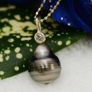 K10南洋バロック真珠×ダイヤモンド ペンダントトップ「キントリヒ」K10(WG/YG/PG)対応 誕生石 4月 6月