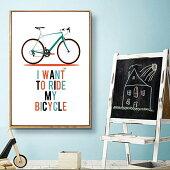 送料無料あす楽自転車ポスターアートパネル輸入壁掛けインテリア絵額付木製自転車柄デザイン壁アートアートフレーム装飾壁面アートオフィスカフェモダンレストラン応接間ギフトプレゼント