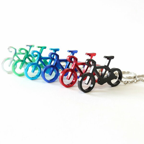 メール便ボトルオープナー栓抜き自転車サイクリングツーリングキーホルダー自転車アルミキーホルダー自転車柄雑貨自転車ギフト自転車好き