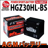 【AGMバッテリー】HGZ30HL-BS Harley Davidson ハーレー用 1年保証付 66010-97A互換 バイクパーツセンター