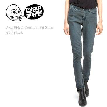 【SALE】Cheap Monday(チープマンデー) DROPPED Mid-Rise Comfort Fit Skinny Leg Nyc Black ルーズスキニー/スキニーデニム/ボーイフレンド/サルエルパンツ
