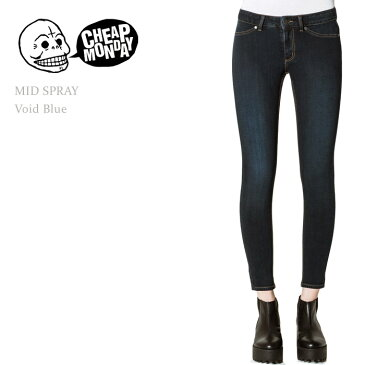 Cheap Monday(チープマンデー)MID SPRAY MID-RISE SKINNY Void Blueスキニー/デニム