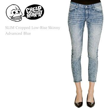 【SALE】Cheap Monday(チープマンデー) SLIM Cropped Low-Rise Skinny Advanced Blue スキニー/スキニーデニム/クロップドスキニー