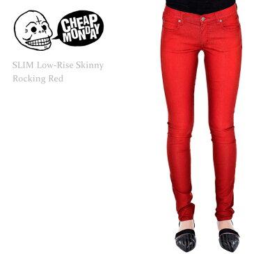 【SALE】Cheap Monday(チープマンデー) SLIM Low-Rise Skinny Rocking Redスキニー/スキニーデニム/カラーデニム