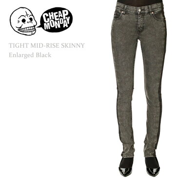 【SALE】Cheap Monday(チープマンデー) TIGHT Mid-Rise Skinny Enlarged Black スキニー/スキニーデニム/カラーデニム