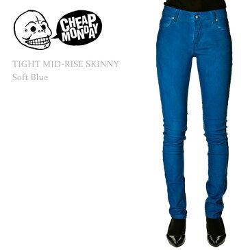 【SALE】Cheap Monday(チープマンデー) TIGHT Mid-Rise Skinny Coated Soft Blue スキニー/スキニーデニム/スリム/カラーデニム