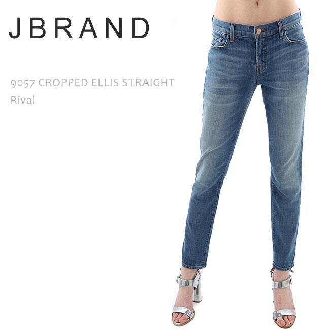 【SALE】J BRAND(ジェイブランド・ジェーブランド)9057 CROPPED ELLIS LOW RISE STRAIGHT Rival【送料無料】ルーズスキニー/スリムボーイフレンド/ストレートデニム