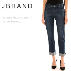 【SALE】J Brand(ジェイブランド・ジェーブランド)JOHNNY MID RISE BOY FIT Cosmic Destructボーイフレンドデニム リラックスフィット ストレートデニム ルーズデニム