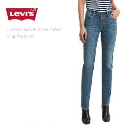 【SALE】 Levi's リーバイス CLASSIC MRS BUTTON FRONT Sing The Blues リーバイス スキニーデニム ミッドライズ ボタンフロント クロップドスキニー レディース ジーンズ