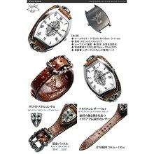保証&おまけ付[DeepZone]メンズ腕時計/メンズアクセサリー/本革レザー/腕時計/シルバー/コンチョ/ブレス/ウォッチ[DZBW-021]ディープゾーン/腕時計/男/国産/コンチョ/革/シルバーアクセサリー/デイープ/SOULJAPAN/悪羅悪羅/お兄系【RCP】