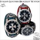 ディープゾーン プレゼント ギフト メンズ腕時計 腕時計 メンズ イタリアンレザーブレスウォッチブレス...
