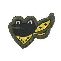 自衛隊グッズワッペン百里基地第301飛行隊ガマガエル尾翼マーク右向きパッチ